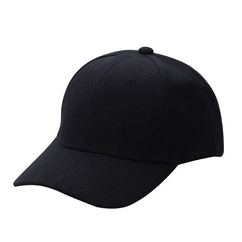 BestOnlineMen's Plain Solid Color Adjustable Baseball Hats Curved Visor