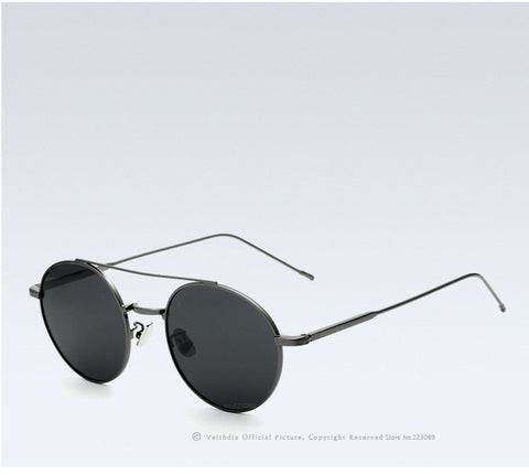BestOnlineBrand Fashion Round Polarized Coating Mirror Sunglasses For Men/Women