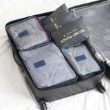 BestBuySale Luggage & Travel Bags 6PCS/Set High Quality Oxford Cloth Travel Mesh Luggage Organizer Bag