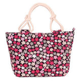 BestBuySale Beach Bags Summer Fashion Folding Women Tote  Flower Printing Beach Bag