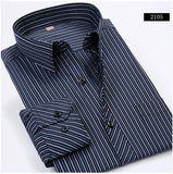 BestOnlineStriped Men Dress Shirt Formal