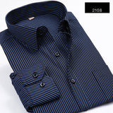 BestBuySaleStriped Men Dress Shirt Formal
