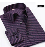 BestBuySale Shirt Striped Men Dress Shirt Formal