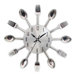 BestOnlineModern Kitchen Cutlery Wall Clocks Spoon Fork Creative - Home Decor
