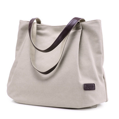 BestOnlineFashion Plain Canvas Tote Bags For Women - Beige/Black/Sky Blue/Brown/Gray/Red