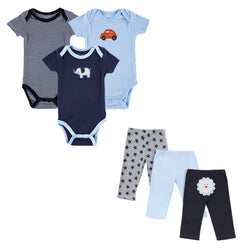 Baby Boy's Clothing SetsOnlineUSA Summer Baby Boy Clothes 6 Pcs/lot Newborn Jumpsuit Short Sleeve Clothing Set