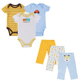 BestOnlineSummer Baby Boy Clothes 6 Pcs/lot Newborn Jumpsuit Short Sleeve Clothing Set