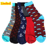 BestBuySale Socks Match-Up Combed Cotton Men's socks Colorful Dress socks (5 pairs / lot )  No gift box