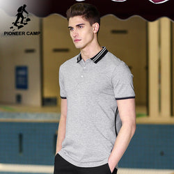 BestOnlineSolid Gray   100% cotton Top Quality Regular Polo Shirt