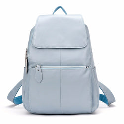BestBuySaleNatural Soft Genuine Leather Women's Fashion Backpack School Bags - 15 Colour