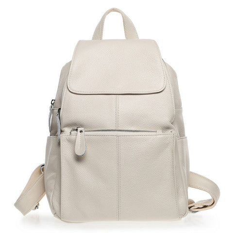 BestOnlineNatural Soft Genuine Leather Women's Fashion Backpack School Bags - 15 Colour