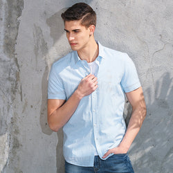 BestOnlineMen's Casual Shirt Short Sleeve