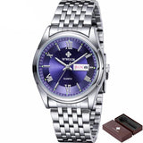BestBuySaleMen's Luminous Luxury Stainless Steel Strap Fashionable Brand Watch - Black/Blue/White