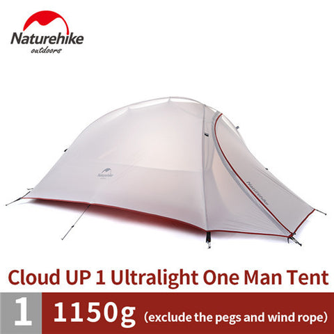 BestBuySale Tents Naturehike  Ultralight Hiking Tent 20D/210T Fabric  For 1 Person With Mat