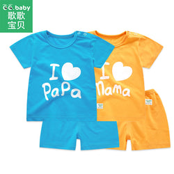 BestBuySale Baby Boy's Clothing Sets Baby Girl/Boys Summer Sets Newborn Clothes Set 2pcs/set - Dad & Mom
