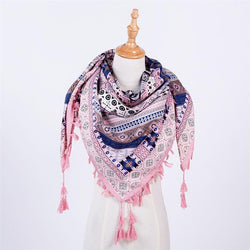 BestOnlineFashion Women's Printed Scarves For Winter/Autumn - Pink/Blue/Red/Khaki/Black/Grey