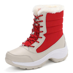 BestBuySale Boots Fashion Women's Snow Boots Shoes Winter Warm boots With thick Bottom Platform - Black/Red/Blue/White
