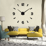 BestBuySale Clocks DIY Acrylic Mirror Wall Clock - Black,Red,Pink,Silver,Gold,Chocolate,Gray,Blue