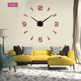 BestOnlineDIY Acrylic Mirror Wall Clock - Black,Red,Pink,Silver,Gold,Chocolate,Gray,Blue