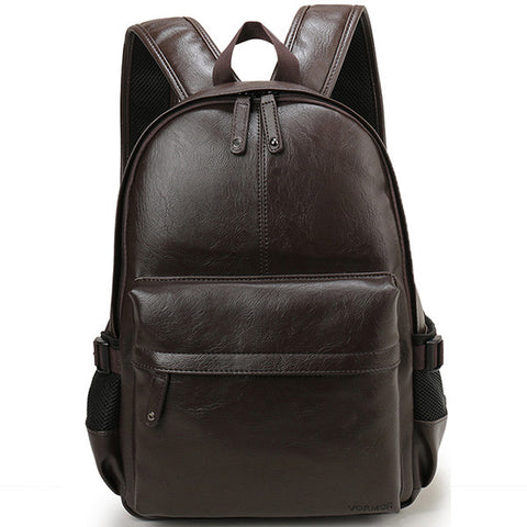 BestOnlinePreppy Style Pu Leather Men's School/College Backpack - Brown,Chocolate,Black