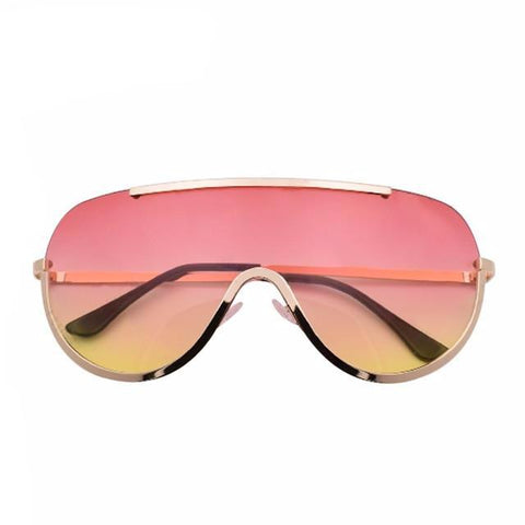 BestBuySaleSummer Fashion Oversize Shield Big Frame Sunglasses For Women
