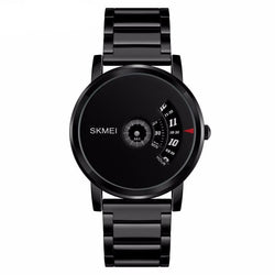 BestOnlineMen's Brand Fashion Luxury Quartz Waterproof Stainless Steel Fashion Watches - Black/Silver