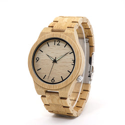 BestBuySaleFashion Round Antique Bracelet Clasp Quartz Bamboo Watch for Men