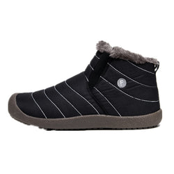 BestBuySale Boots Men's Winter Shoes Solid Color Snow Boots - Blue/Gray/Black