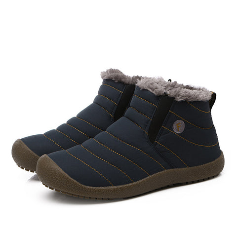 BestOnlineMen's Winter Shoes Solid Color Snow Boots - Blue/Gray/Black