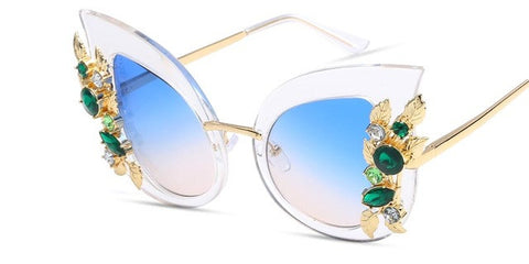 BestOnlineFashion Metal Frame Cat Eye Diamond Women's Sunglasses