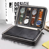 BestBuySale Watch Boxes 8 Slots PU Leather Watch Storage Box & Organizer - Black/Brown