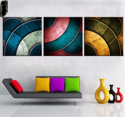 BestOnline3 Piece Set Modern Abstract Wall Art Canvas Oil Painting