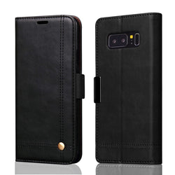 BestOnlineSamsung Galaxy Note 8 Wallet Case Retro Cover for Samsung Note 8 - Black/Red/Brown