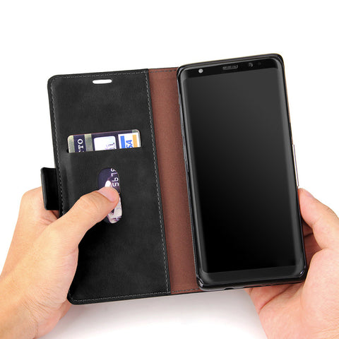 BestBuySaleSamsung Galaxy Note 8 Wallet Case Retro Cover for Samsung Note 8 - Black/Red/Brown