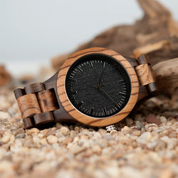 BestOnlineMen's Fashion Zebra Wooden Watch in Gift Box
