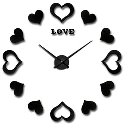 BestOnlineLarge DIY Decorative Wall Clock - Black,Gold,Silver