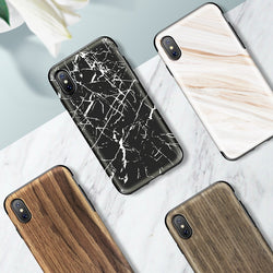 BestOnlineWood Grain/Marble Texture Cover Case for iPhone X