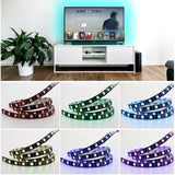 BestBuySaleUSB Cuttable RGB LED Strip Lighting Kit For TV/PC Background With 17 Key RF Controller