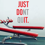 "BestOnline""JUST DONT QUIT"" Gym Workout Motivation Quote - Wall Sticker"