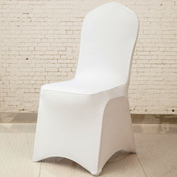 BestOnline100 Pieces Cheap Wholesale Universal White Chair Covers For Weddings,Banquets,Event Decor