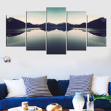 BestOnline5 Piece Set Natural Landscape Canvas Wall Painting