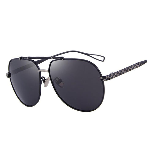 BestOnlineMen's Polarized Black Pilot Summer Sunglasses