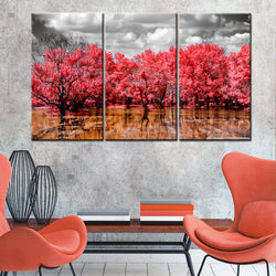 BestOnline3 Piece Set Trees Wall Art Canvas Painting