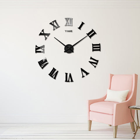 BestBuySale Clocks DIY Roman Numeral  Wall Clocks-Red,Black,Gray,Blue,Pink,Silvery,Gold,Chocolate