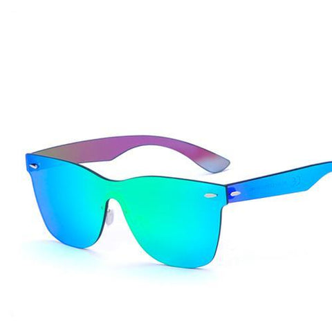 BestOnlineMen's Fashion Rimless Sunglasses - Green Revo,Blue Revo,Yellow,Smoke,Light blue,Light green