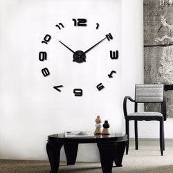 BestOnlineLarge DIY Decals Modern Wall Clock -Black,Red,Gray,Blue,Pink,Silvery,Gold,Coffee
