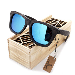 BestBuySale Sunglasses Men's Retro Bamboo Sunglasses in Wooden Gift Box - Blue,Brown,Grey