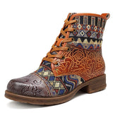 BestBuySaleVintage Western Cowgirl Women's Winter Ankle Boots