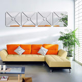 BestBuySale Wall Stickers Acrylic Mirror Wall Stickers For Home Decor - Gold,Silver,Black
