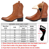BestBuySale Boots Western Cowgirl Women's Square Heel Ankle Boots With Zipper - Camel,Black